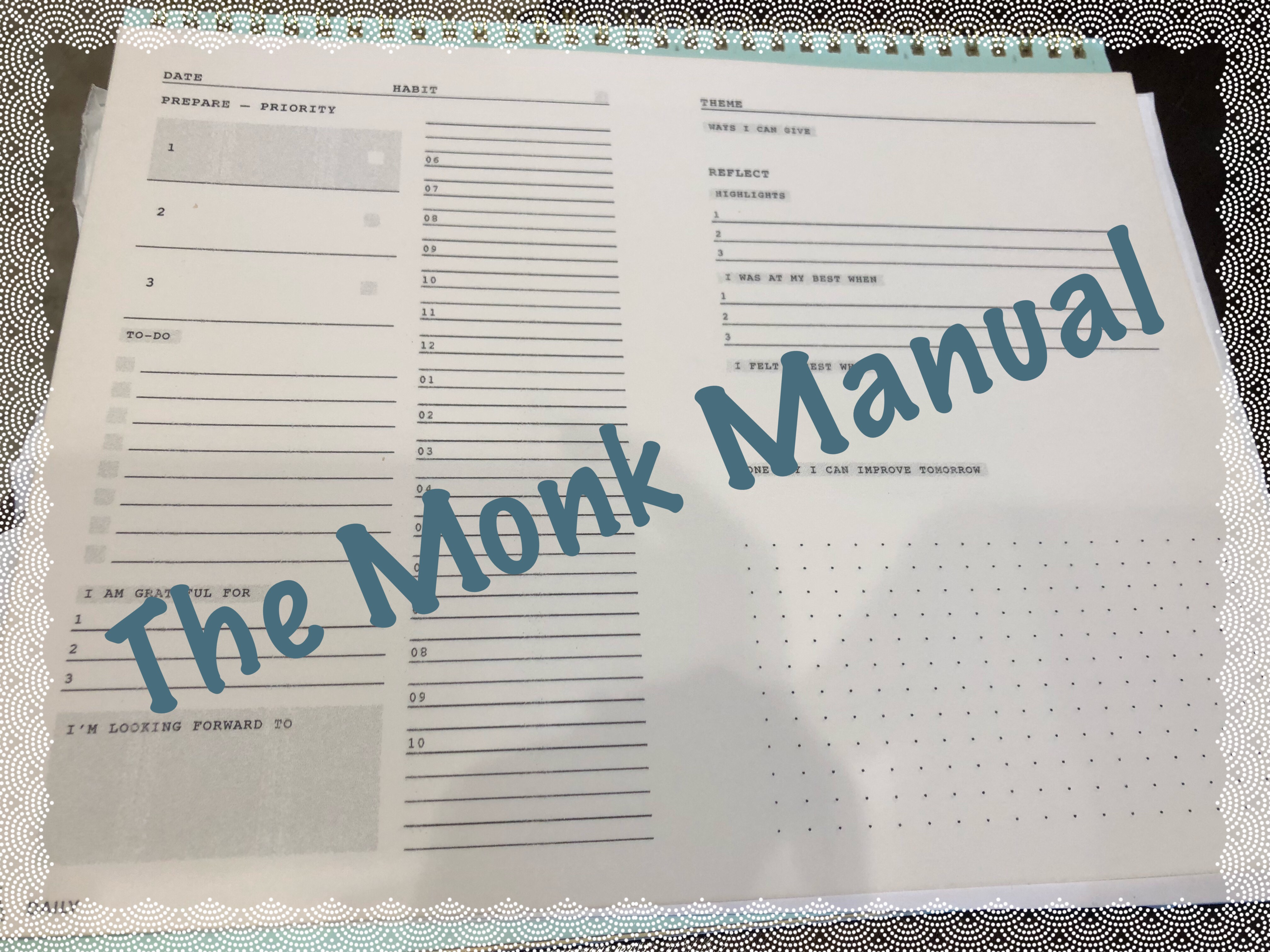 Living an Integrated Life – The Monk Manual